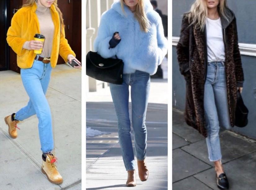 светлые джинсы женские зиомй