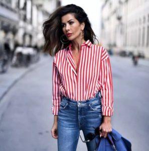 Как девушке носить рубашку с джинсами в 2019?