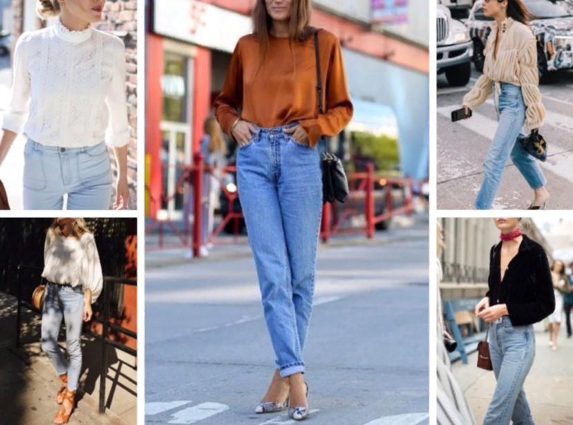 светлые джинсы весной