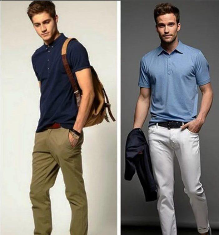 джинсы мужские с поло