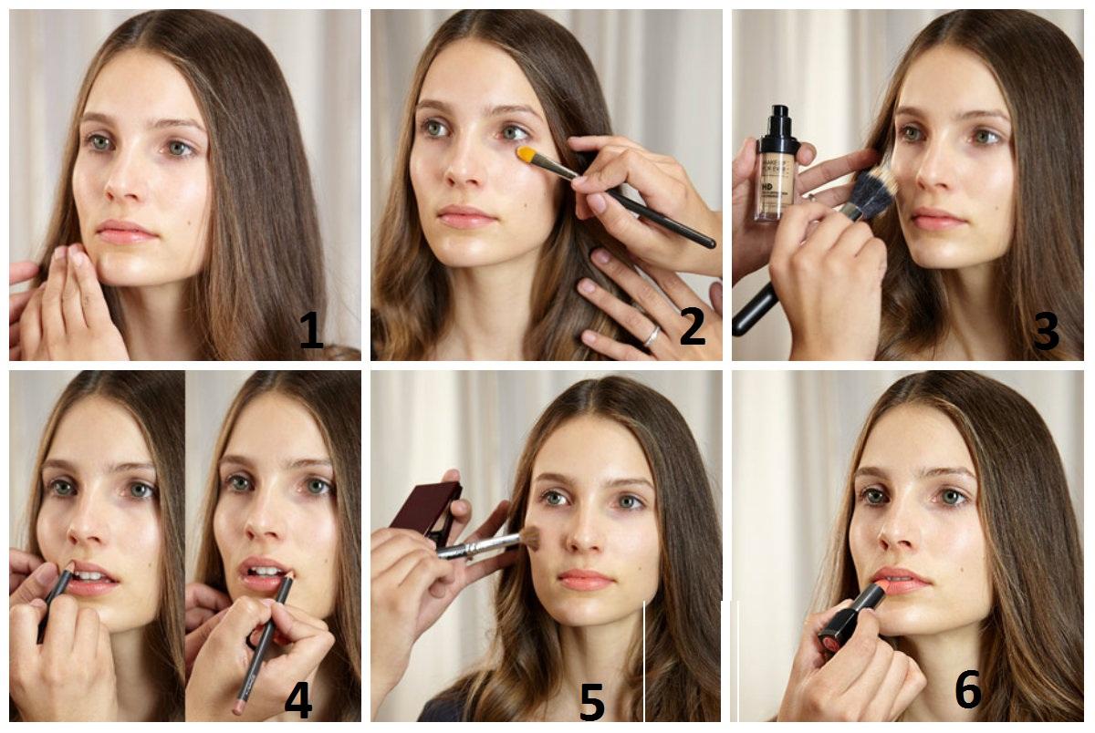 как делать нюдовый макияж