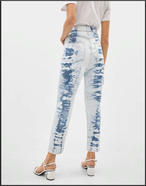 джинсы выбеленные тай дай