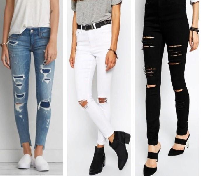 джинсы рваные мода 2019