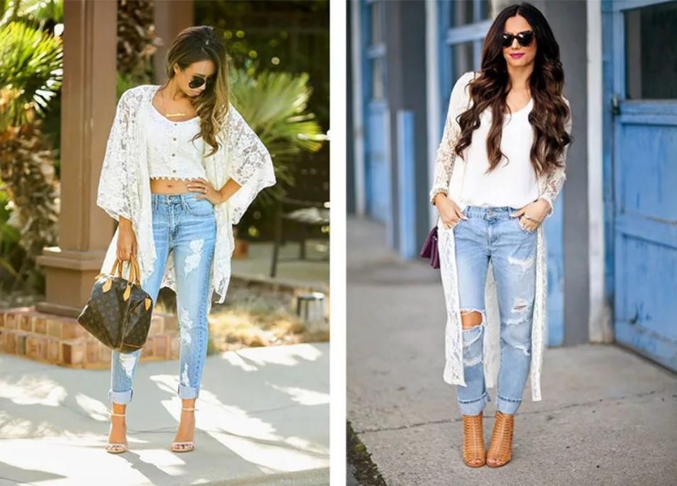 джинсы с кардиагном