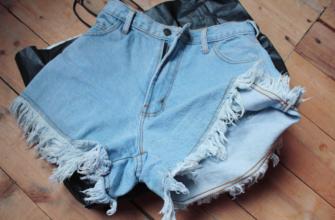 шорты с бахромой