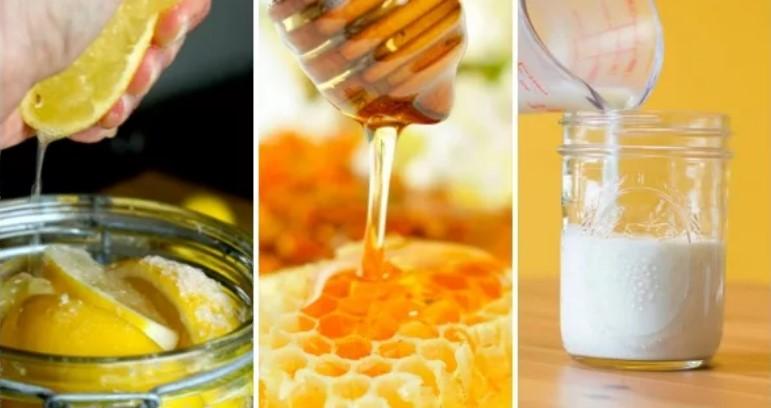 кефир, оливковое масло и мед