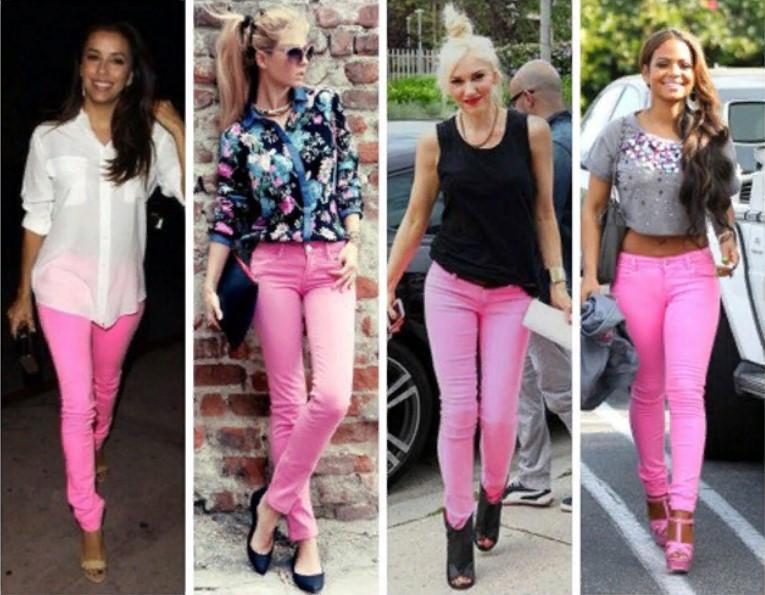розовые джинсы 2