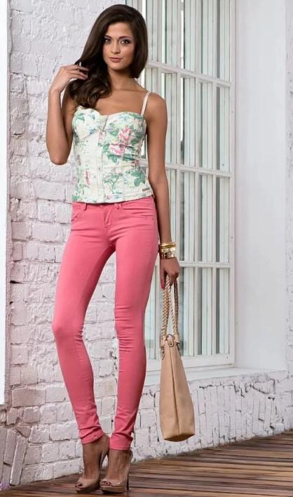 розовые джинсы 3