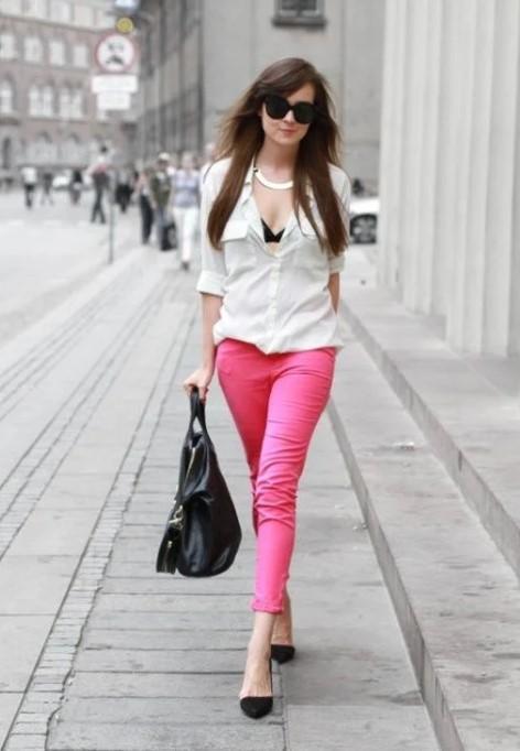 розовые джинсы 4