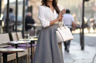 С чем носить юбку миди