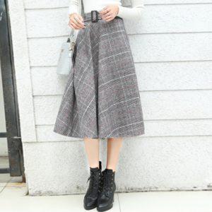 С чем носить юбку-трапецию зимой