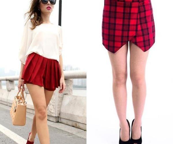 С чем носить юбку-шорты