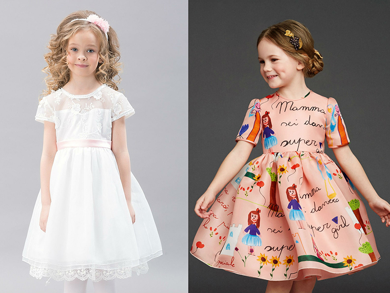 Фасоны детских платьев