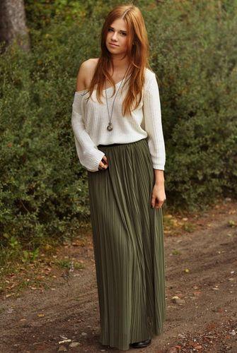 С чем носить юбку макси?