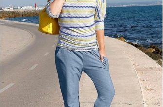 джинсы с резинкой внизу