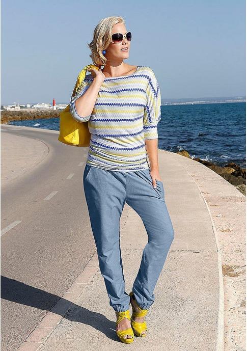 Как называются женские джинсы с резинкой внизу?