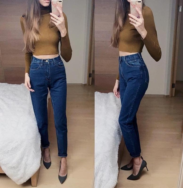 Как должны сидеть мом джинсы 6