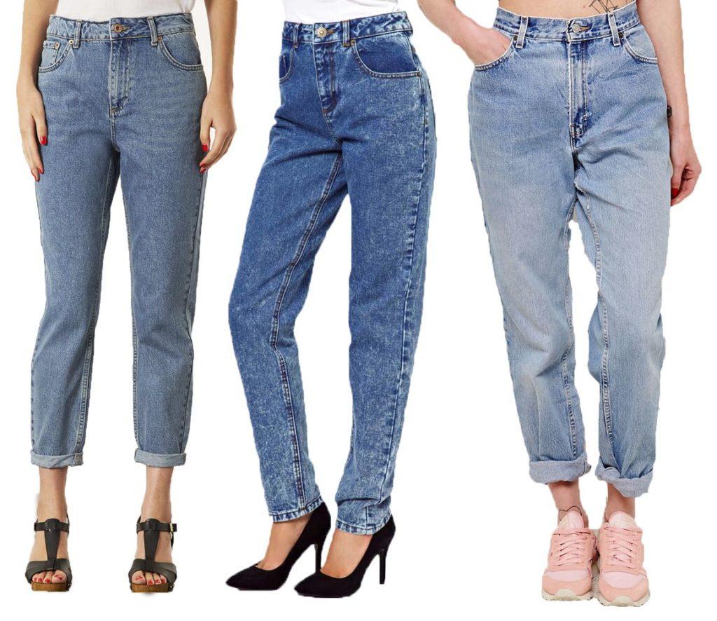 Как должны сидеть мом джинсы