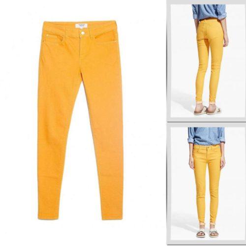 С чем носить жёлтые джинсы