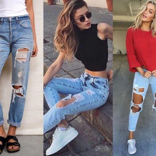 Как называются рваные джинсы