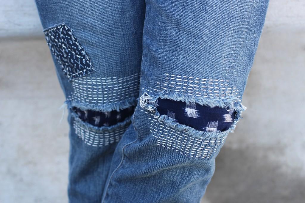 Дизайнерские джинсы заделка дырок фото