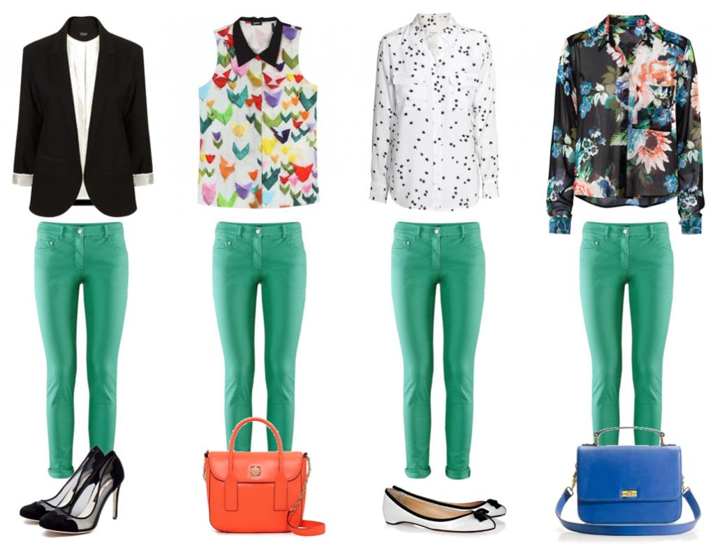 с чем носить зеленые брюки женские фото максимально упростили облегчили