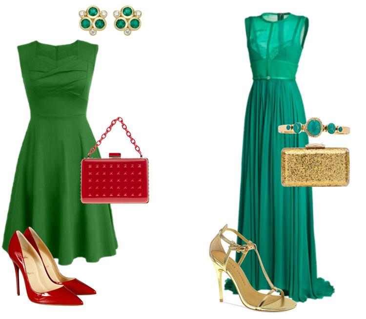 Какую Обувь Носить С Зеленым Платьем