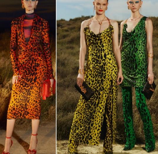 Платья леопардовое