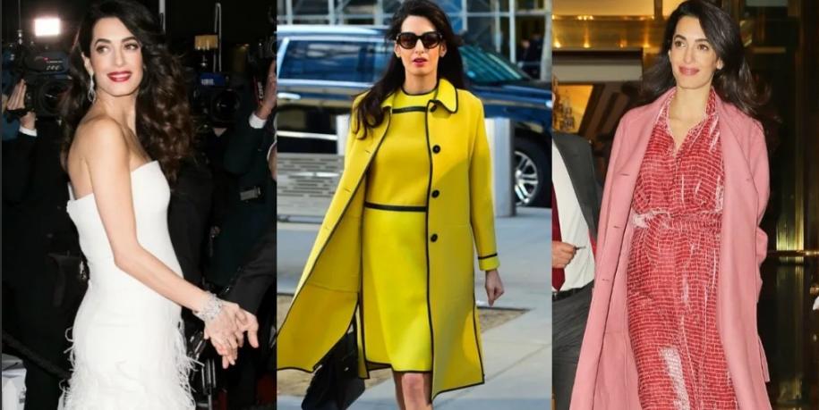 Амаль Клуни в разных нарядах