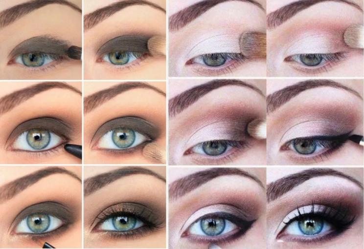 макияж к белому платью зеленые глаза