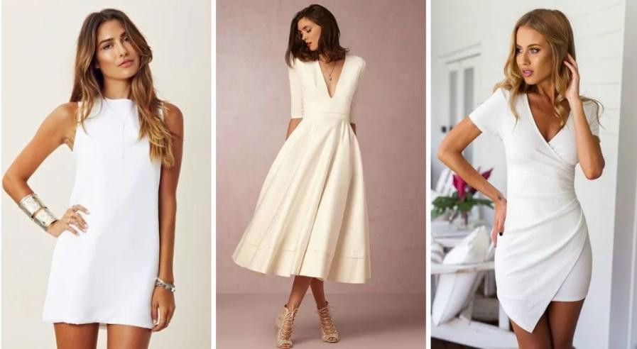 С чем носить белое платье?