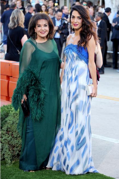 Амаль Клуни и ее мама