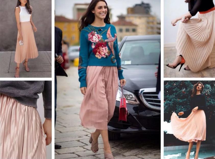 бежевые юбки плиссе разные ткани