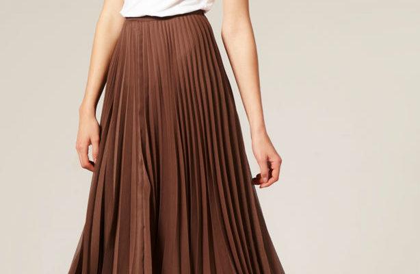 С чем носить коричневую юбку?