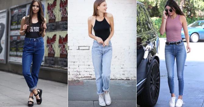 джинсы американки с завышенной талией