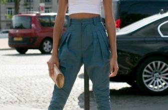 С чем носить джинсы-бананы?