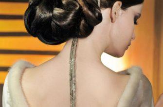 причёски к вечернему платью