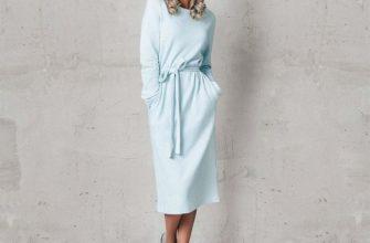 Длина платья миди