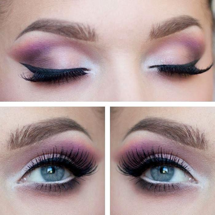 идеи макияжа под розовые платья