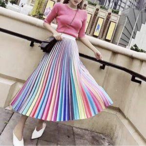 Юбки из цветной ткани