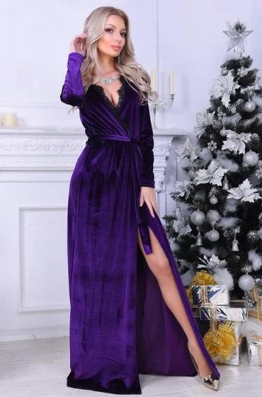 платье халат с запахом ретро