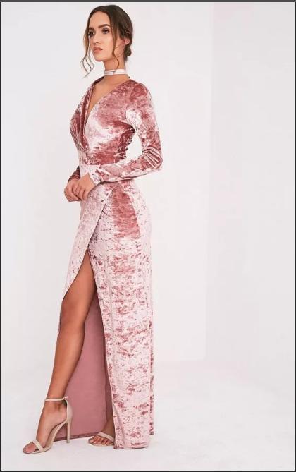платье с запахом вечернее