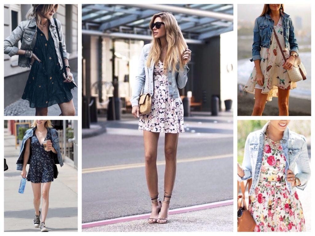 джинсовка с платьем летним