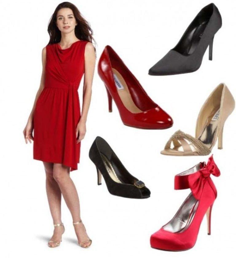 Красное Платье Какие Туфли Подойдут Фото