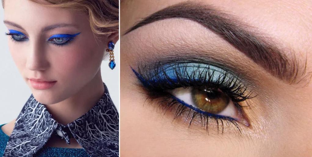 макияж под синее платье блондинкам