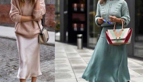 С чем носить модную юбку «слип»