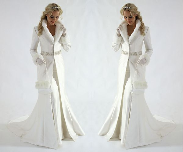 Как выбрать свадебное платье зимнее