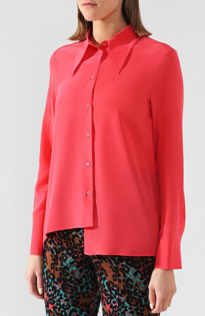Блузки из шелка: фасоны с фото