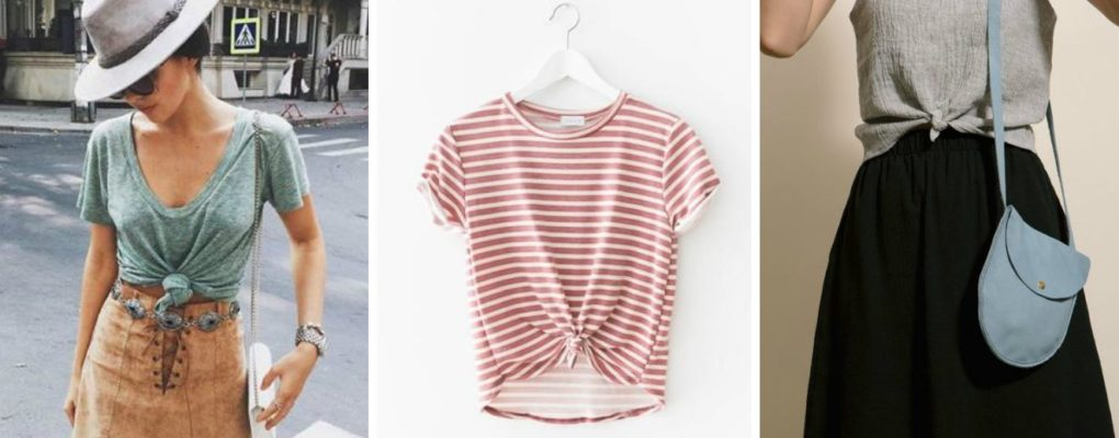 Как красиво завязать футболку
