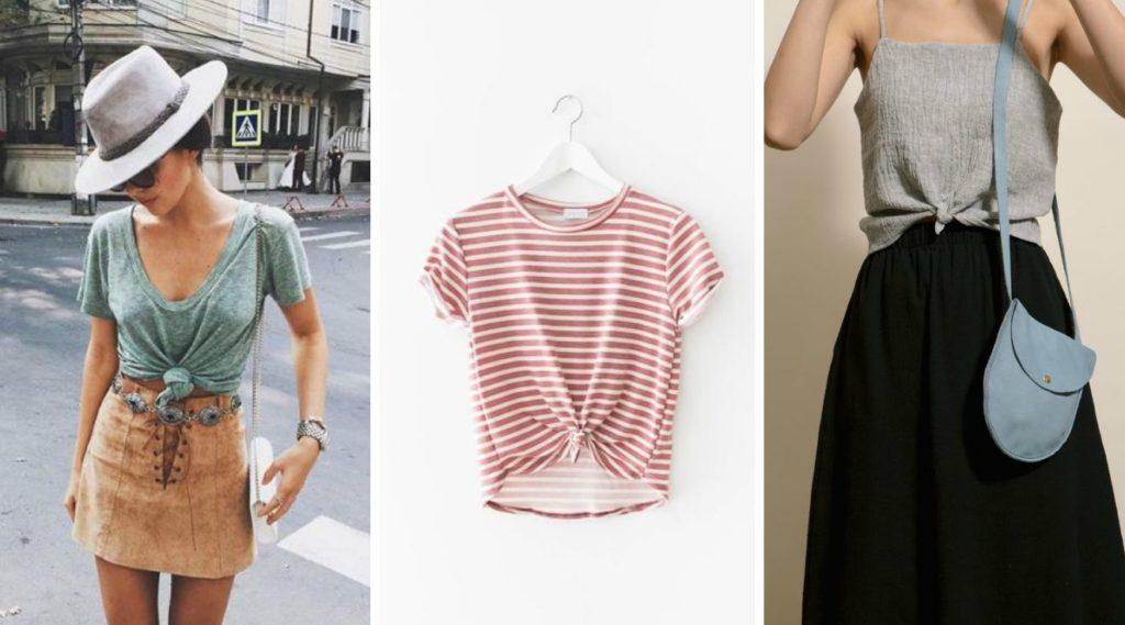 Как завязать футболку